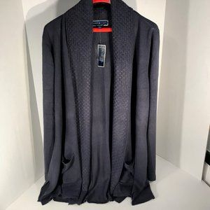 Karen Scott 2X Dark Blue Sweater NWT